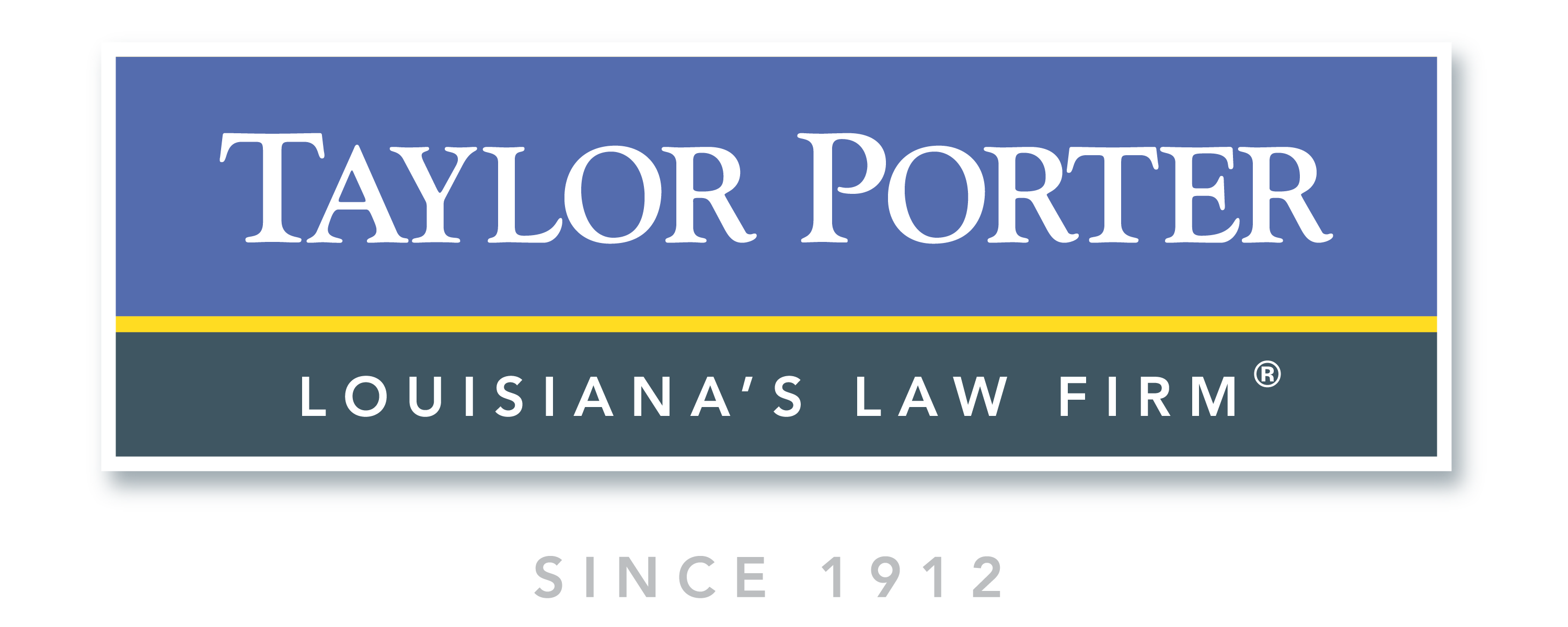 Logo for Taylor porter law firm